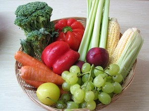 fruit and vegetable basket, for diet and weight loss