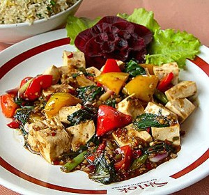 vegetarian diet weightloss, tofu basil